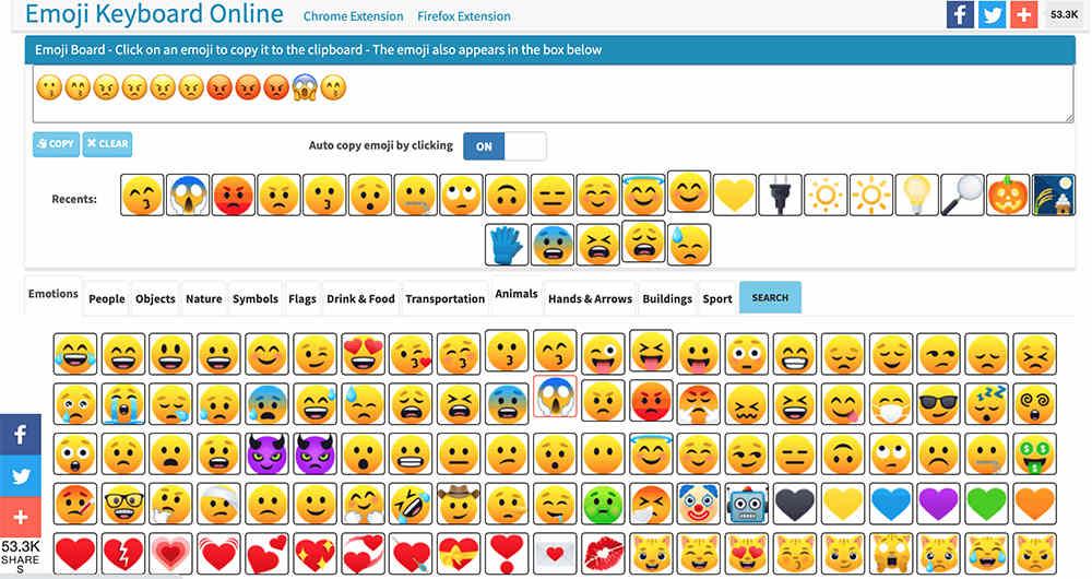 免費的FB表情符號懶人包- emojikeyboard