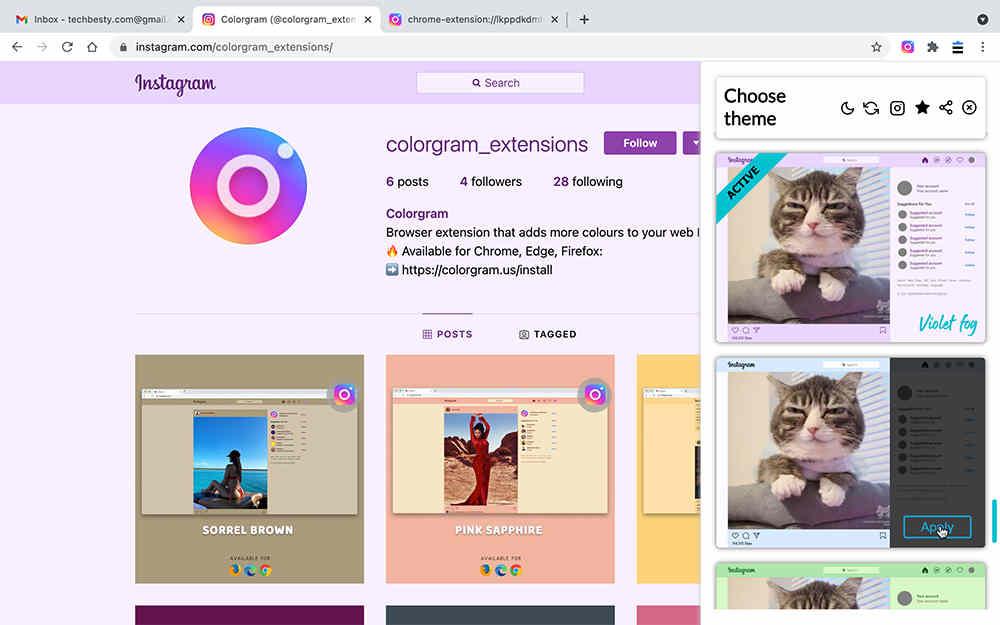 Colorgram - 主題設置選項