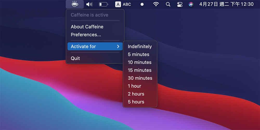 4個免費方法防止mac休眠 - Caffeine