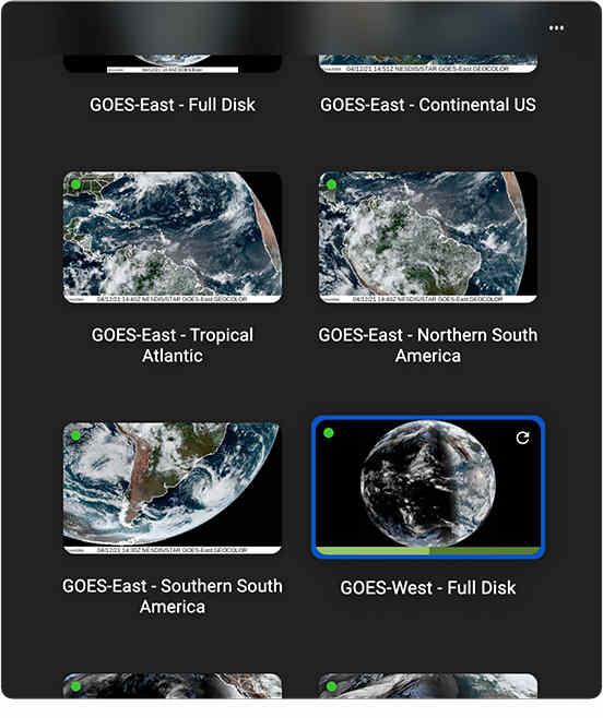 SpaceEye:12種視角地球實時衛星電腦桌布下載-介面
