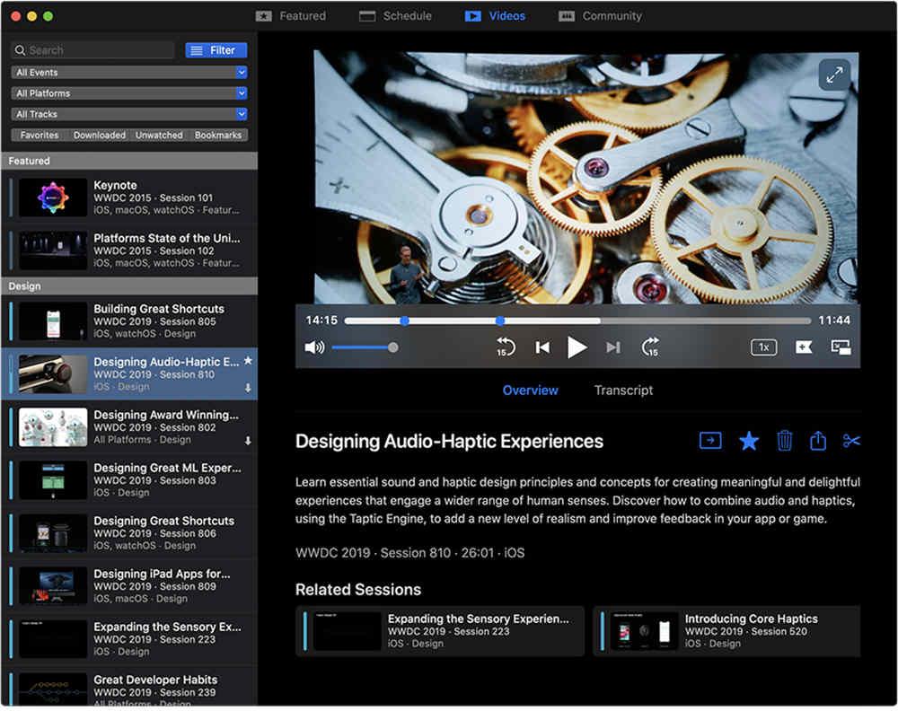 WWDC for Mac - 視頻播放器