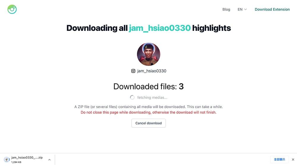 Downloader for Instagram™:批次IG照片下載Chrome擴充功能 - IG動態批次下載
