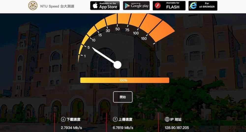 9個免費在線網路測速工具推薦 - 台大網路測速