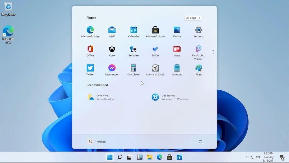 Windows 11電腦作業系統桌面截圖