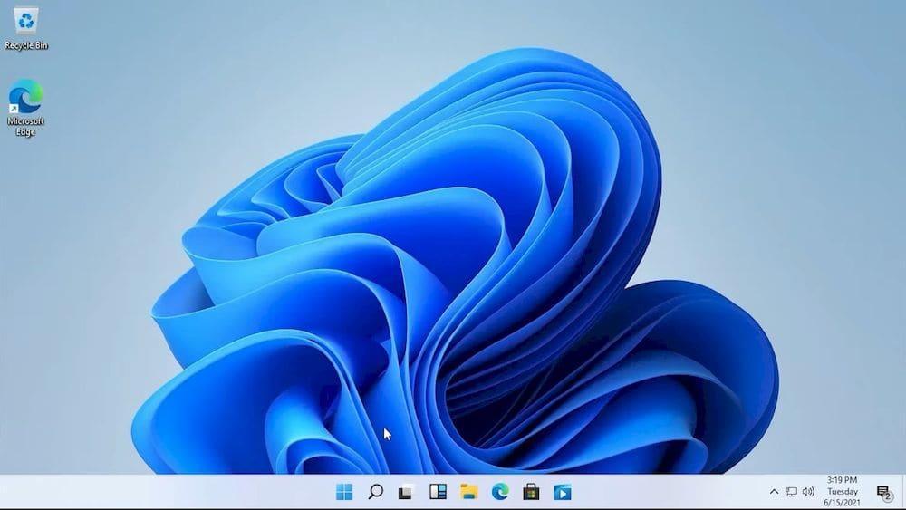 Windows 11電腦作業系統桌面默認壁紙深色