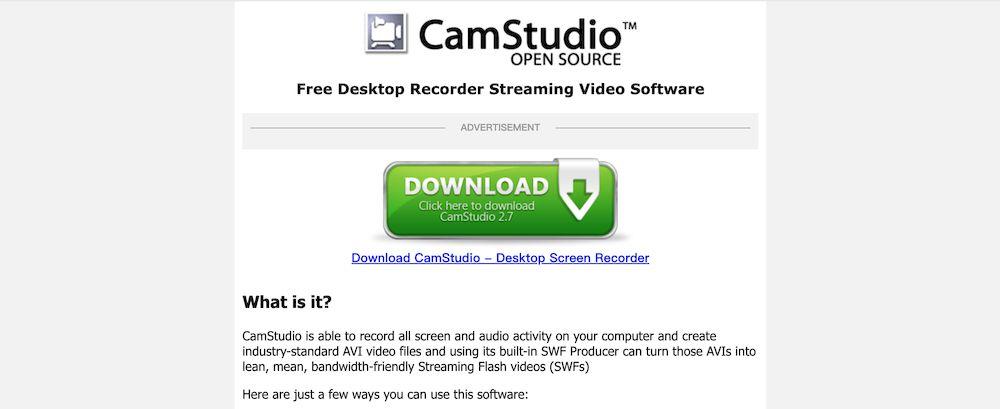 8款最推薦的 Win 10 螢幕錄影軟體推薦 - CamStudio