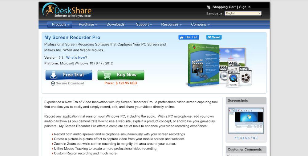 8款最推薦的 Win 10 螢幕錄影軟體推薦 - My Screen Recorder Pro