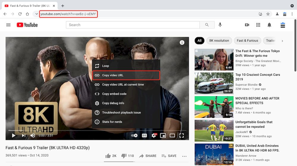 6個YouTube Free Downloader推薦 - 複製YouTube影片連結