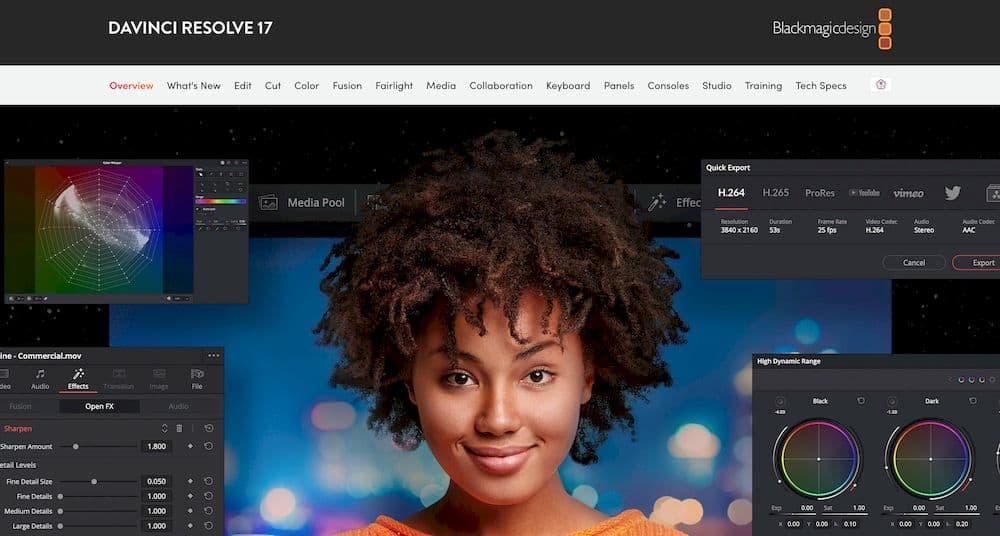 6 款最推薦的 Mac 影片剪輯軟體 - DaVinci Resolve
