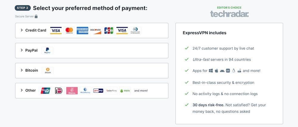 ExpressVPN 評價,全球最快速的翻牆 VPN - ExpressVPN支付方式