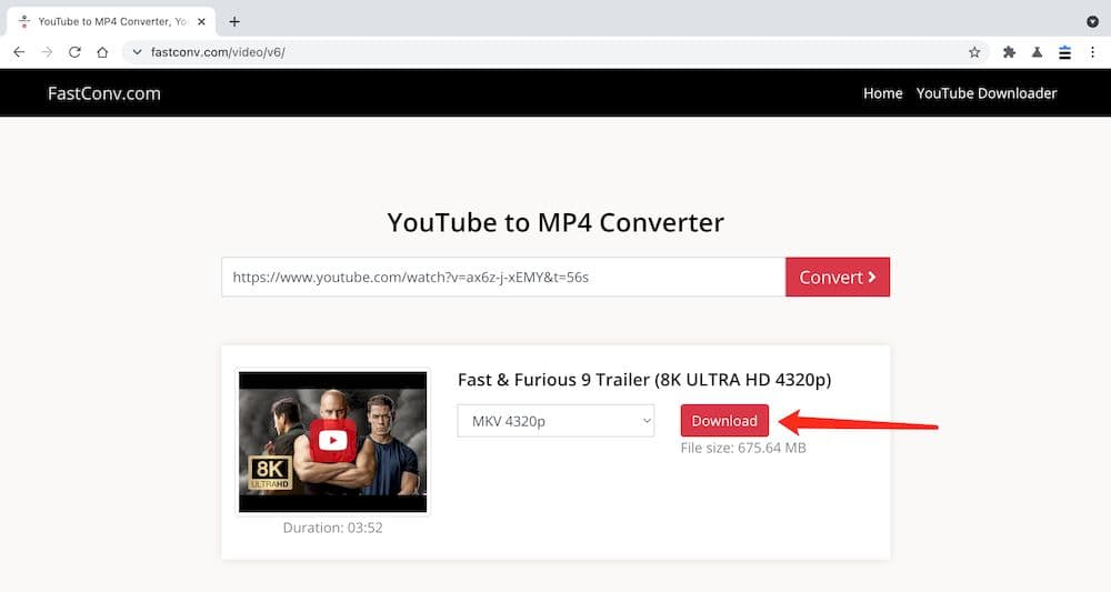Fastconv YouTube影片下載教學 - 下載影片