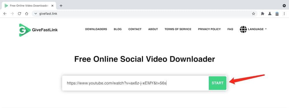 Givefast YouTube MP4 下載教學 - 張貼連結