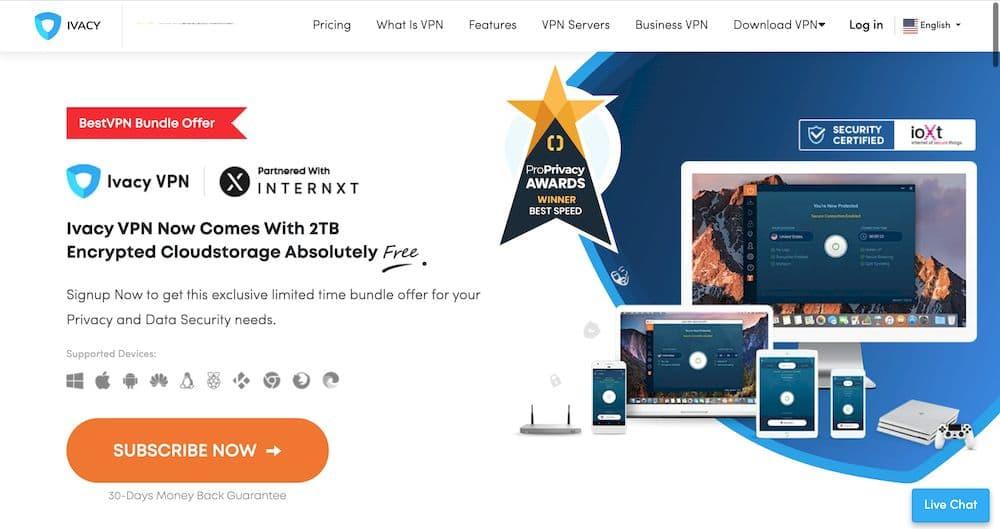 IvacyVPN 評價 - 官方網站