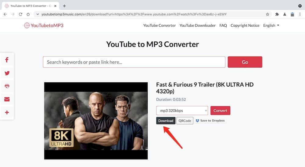 YouTubeToMP3Music YouTube轉MP3教學 - 下載
