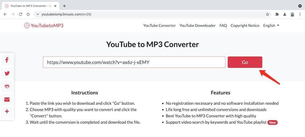 YouTubeToMP3Music YouTube轉MP3教學 - 張貼連結