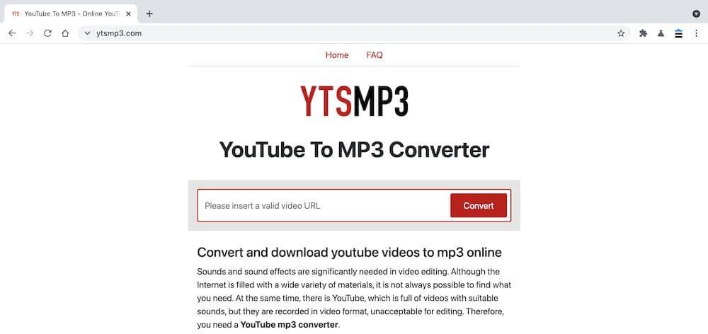 YtsMP3 YouTube轉MP3教學 - 張貼連結