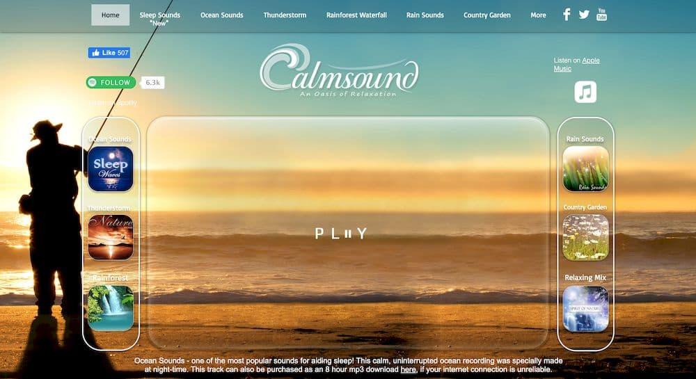 7 個免費線上白噪音網站推薦 - Calmsound
