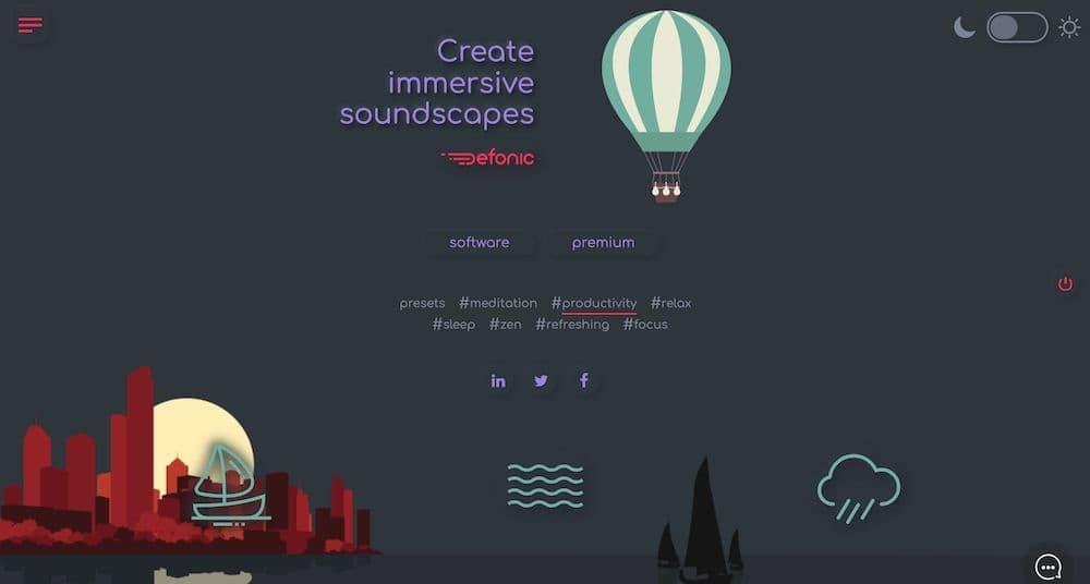 7 個免費線上白噪音網站推薦 - Defonic