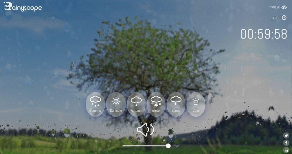 7 個免費線上白噪音網站推薦 - Rainyscope