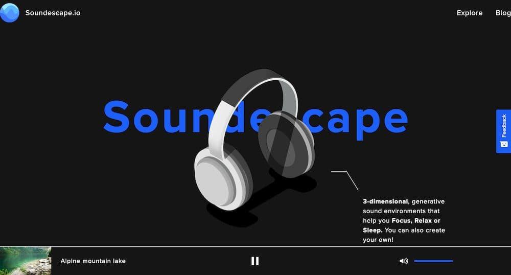 7 個免費線上白噪音網站推薦 - SoundScape