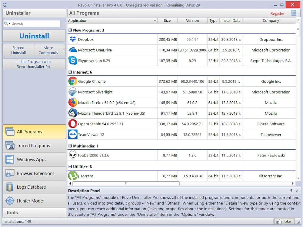 4 款 Windows 清理電腦軟體程式推薦 - Revo uninstaller